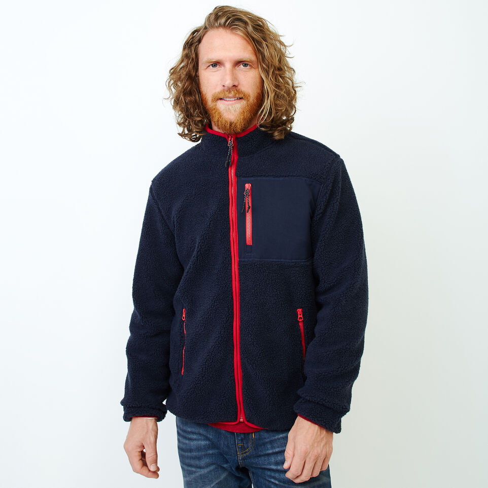 Roots-Men Our Favourite New Arrivals-Whistler Full Zip Mock Sweatshirt-Navy Blazer-A