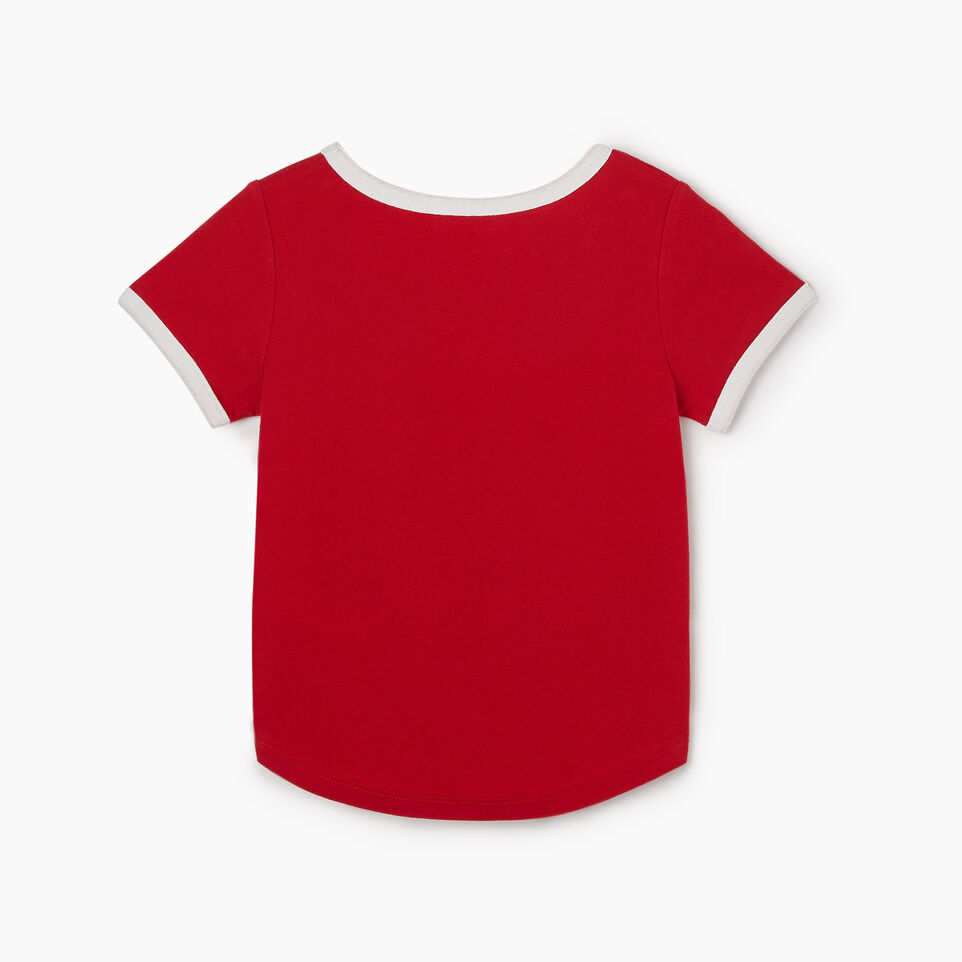 Roots-Kids New Arrivals-Toddler Canadian Girl T-shirt-Sage Red-B