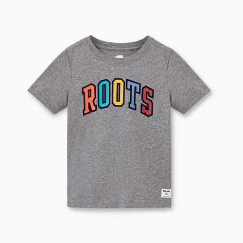 Roots-Kids Toddler Boys-Toddler Arch Roots T-shirt-Medium Grey Mix-A