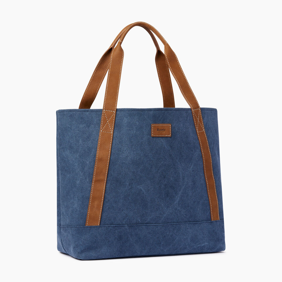 Roots-Women Our Favourite New Arrivals-Muskoka Tote Canvas-Navy-A