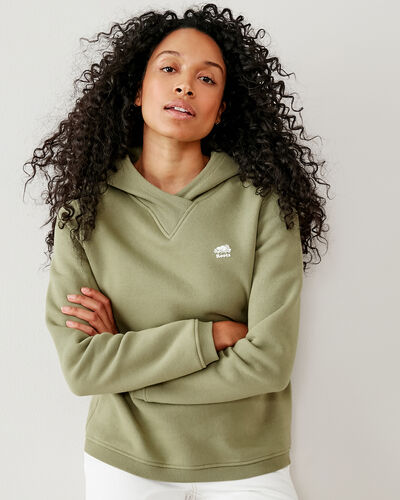 Roots-Women Tops-Spruce Kanga Hoody-Thyme-A