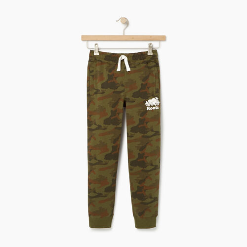Roots-Clearance Kids-Boys Camo Sweatpant-Winter Moss Green-A