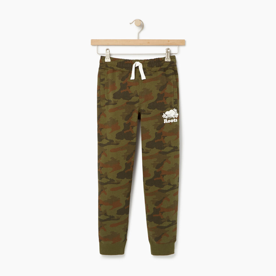 Roots-Kids New Arrivals-Boys Camo Sweatpant-Winter Moss Green-A