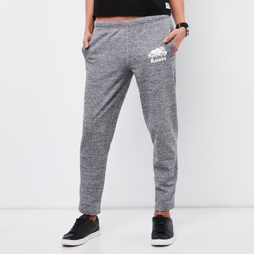 Roots-Women Cropped Sweatpants-Easy Ankle Sweatpant-Salt & Pepper-A