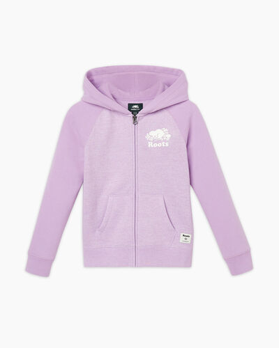 Roots-Sweats Girls-Girls Original Full Zip Hoody-Lupine Pepper-A