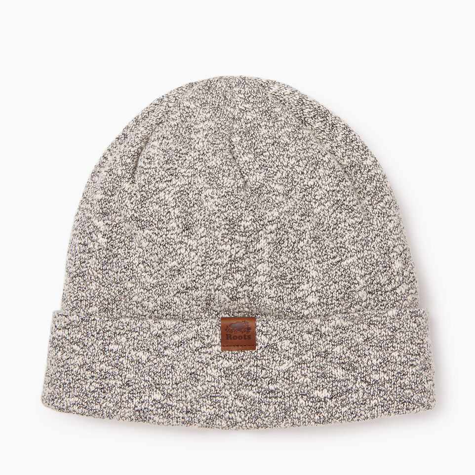 Roots-Men Categories-Snowy Fox Leaf Toque-Snowy Fox-D