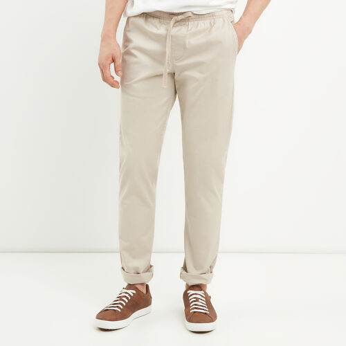 Roots-Men Pants-Essential Pull On Pant-True Khaki-A