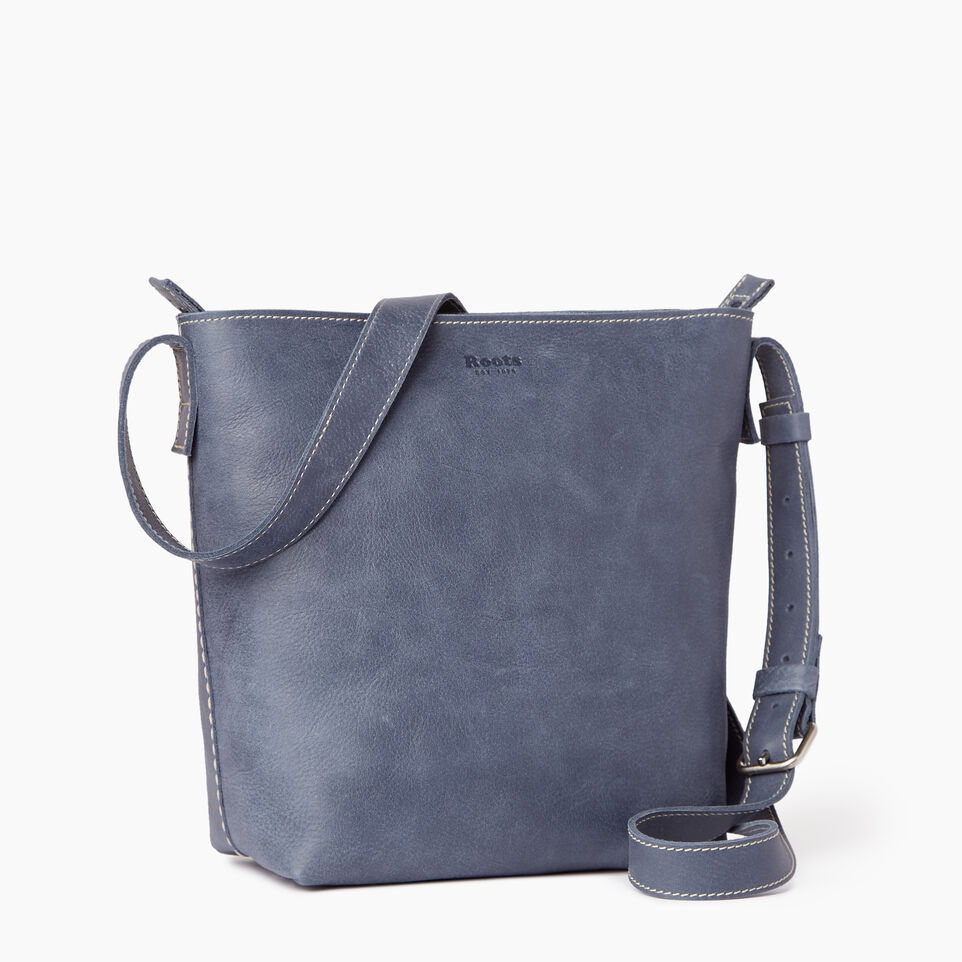 Roots-Leather Our Favourite New Arrivals-Rideau Crossbody-Navy-C