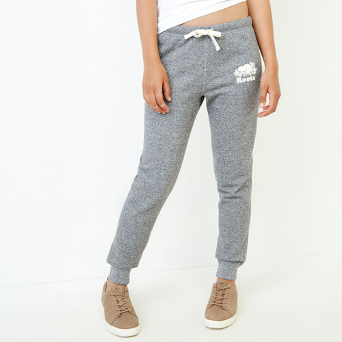 Roots-Women Collections-Original Slim Cuff Sweatpant-Salt & Pepper-A