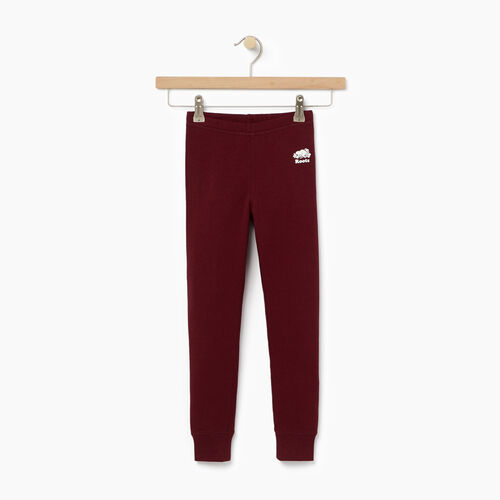 Roots-Kids Categories-Girls Cozy Fleece Legging-Northern Red-A