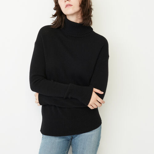 Roots-Women Sweaters & Cardigans-Sherbrooke Turtleneck Sweater-Black-A
