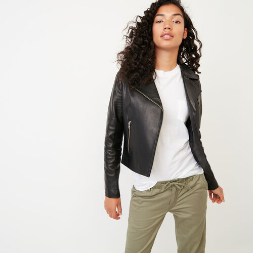 Roots-Leather Leather Jackets-Shay Jacket Vegetal-Black-A