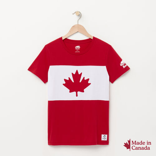 Roots-New For July Canada Collection By Roots™-Womens Blazon Tshirt-Sage Red-A