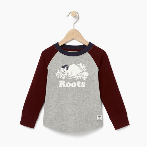 Roots-Winter Sale Toddler-Toddler Hockey Buddy Raglan T-shirt-Grey Mix-A