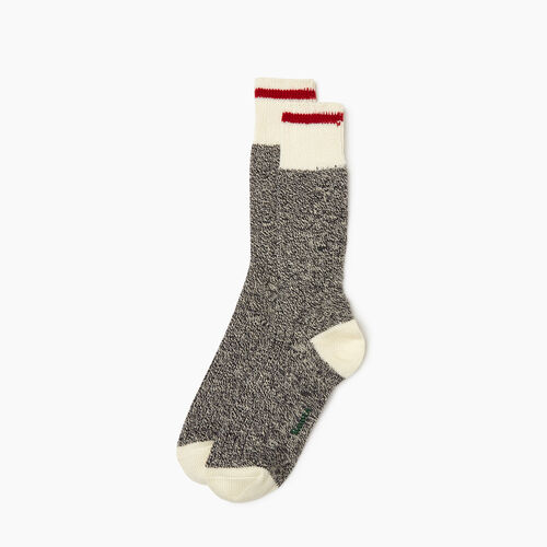 Roots-Women Socks-Womens Roots Cabin Sock 2 pack-Grey Oat Mix-A