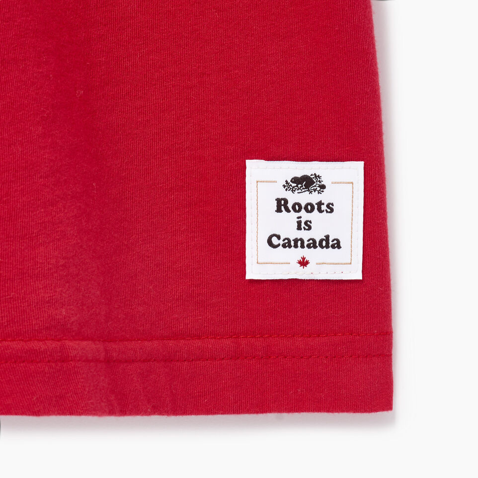 Roots-Men Canada Collection By Roots™-Mens Cooper Canada T-shirt-Sage Red-C
