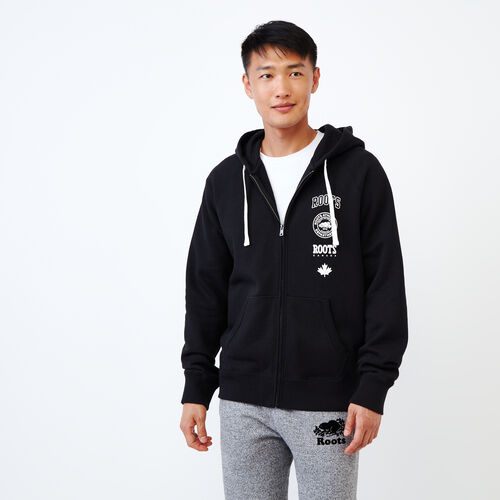 Roots-Men Our Favourite New Arrivals-Stamps Zip Hoody-Black-A