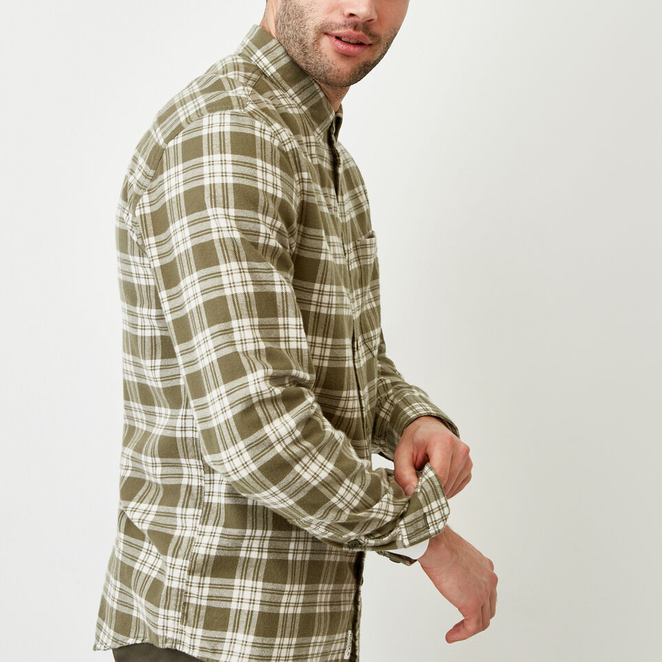 Roots-Men Shirts & Polos-Harrison Flannel Shirt-undefined-C