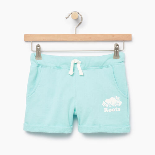 Roots-Clearance Kids-Girls Roots Beach Short-Aruba Blue-A