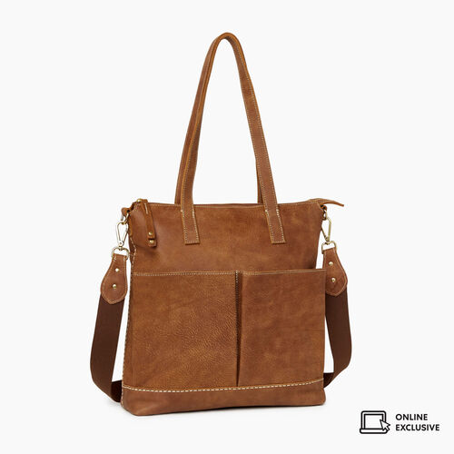 Roots-Leather New Arrivals-Julia Tote Tribe-Natural-A