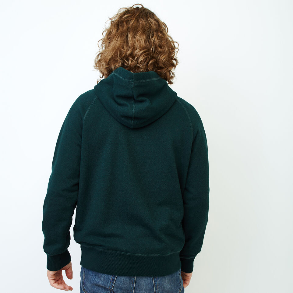 Roots-Men Sweatshirts & Hoodies-Chenille Kanga Hoody-Varsity Green Pepper-D