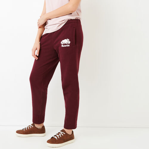 Roots-New For March Sweats-Easy Ankle Sweatpant-Northern Red-A