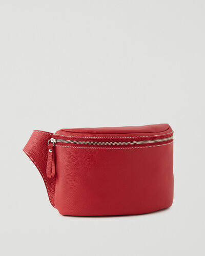 Roots-Leather New Arrivals-Extra Large Belt Bag Cervino-Lipstick Red-A