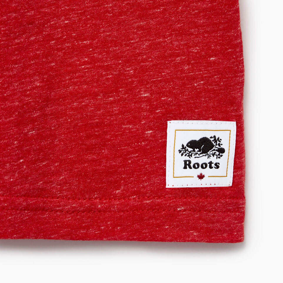 Roots-Kids New Arrivals-Baby Bedford T-shirt-Sage Red Mix-C