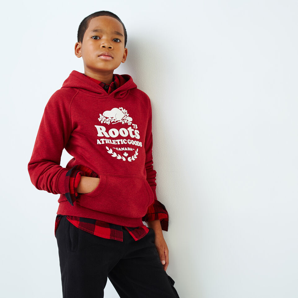 Roots-Kids Boys-Boys Laurel Hoody-Cabin Red Mix-A