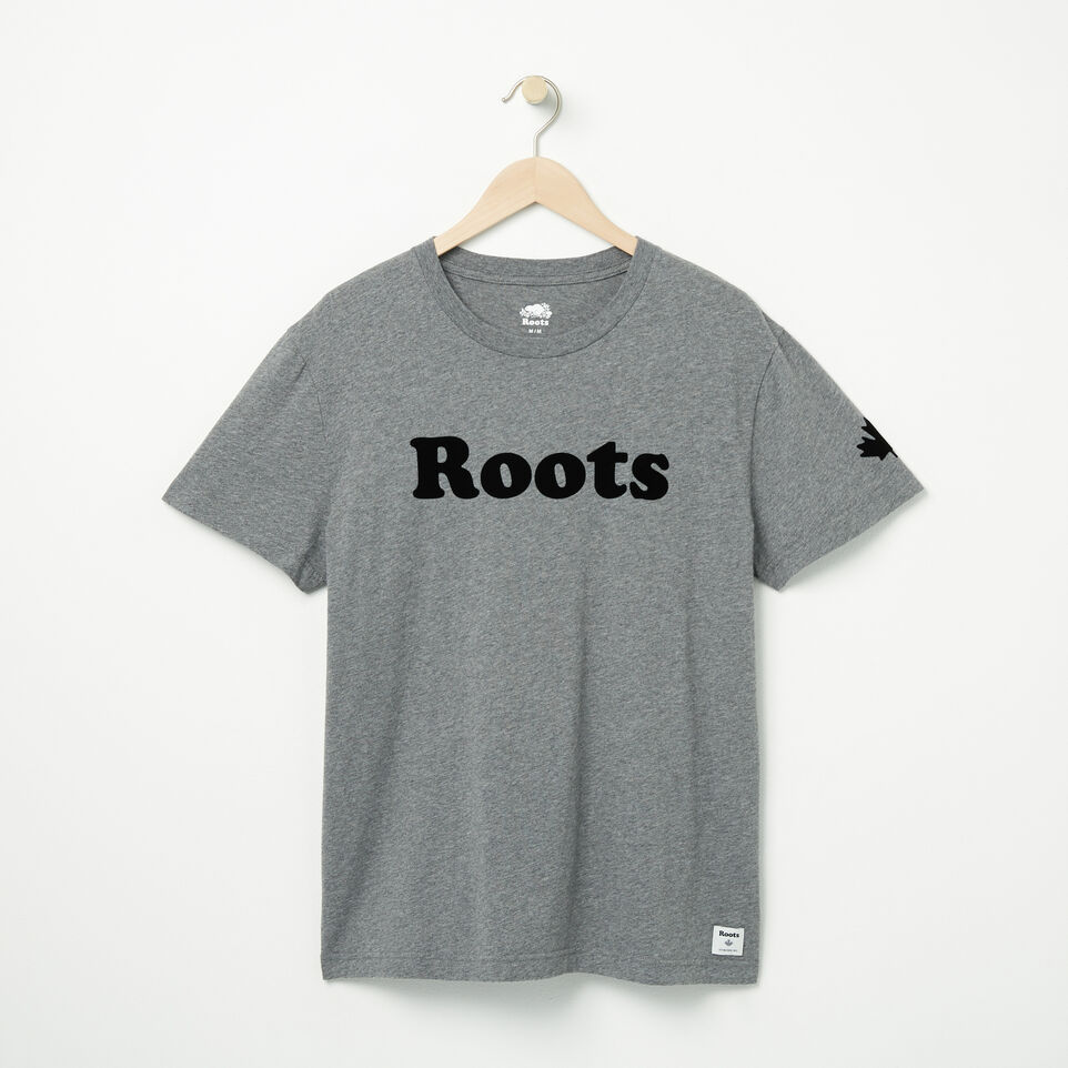 Roots-undefined-Mens Roots Wordmark T-shirt-undefined-A