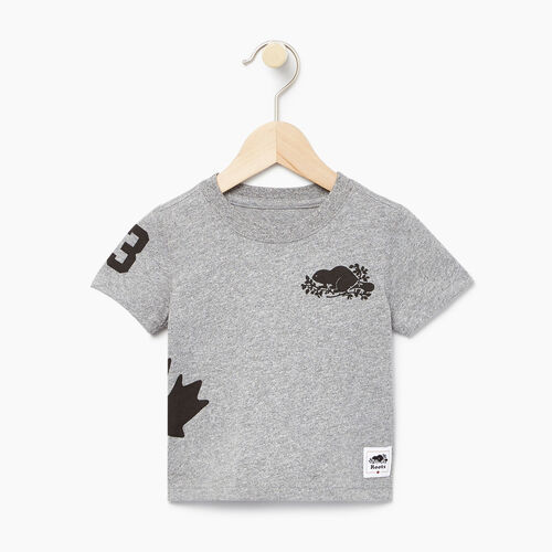 Roots-Kids Our Favourite New Arrivals-Baby Bedford T-shirt-Salt & Pepper-A