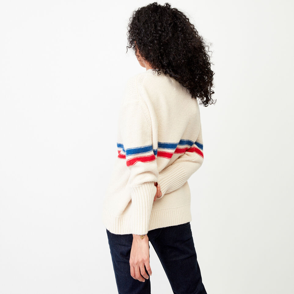 Roots-Women Our Favourite New Arrivals-Westwood V Neck Sweater-Light Fog-E