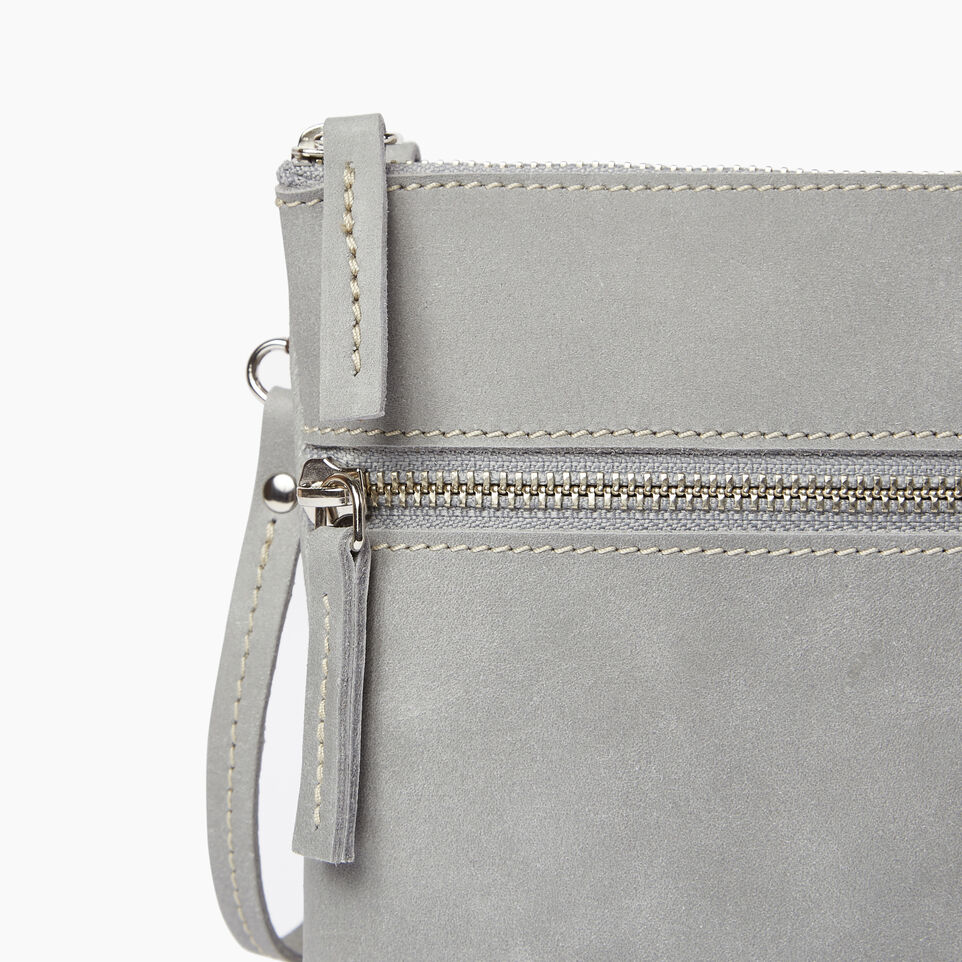 Roots-Leather  Handcrafted By Us Our Favourite New Arrivals-Double Zip Wristlet-Quartz-D