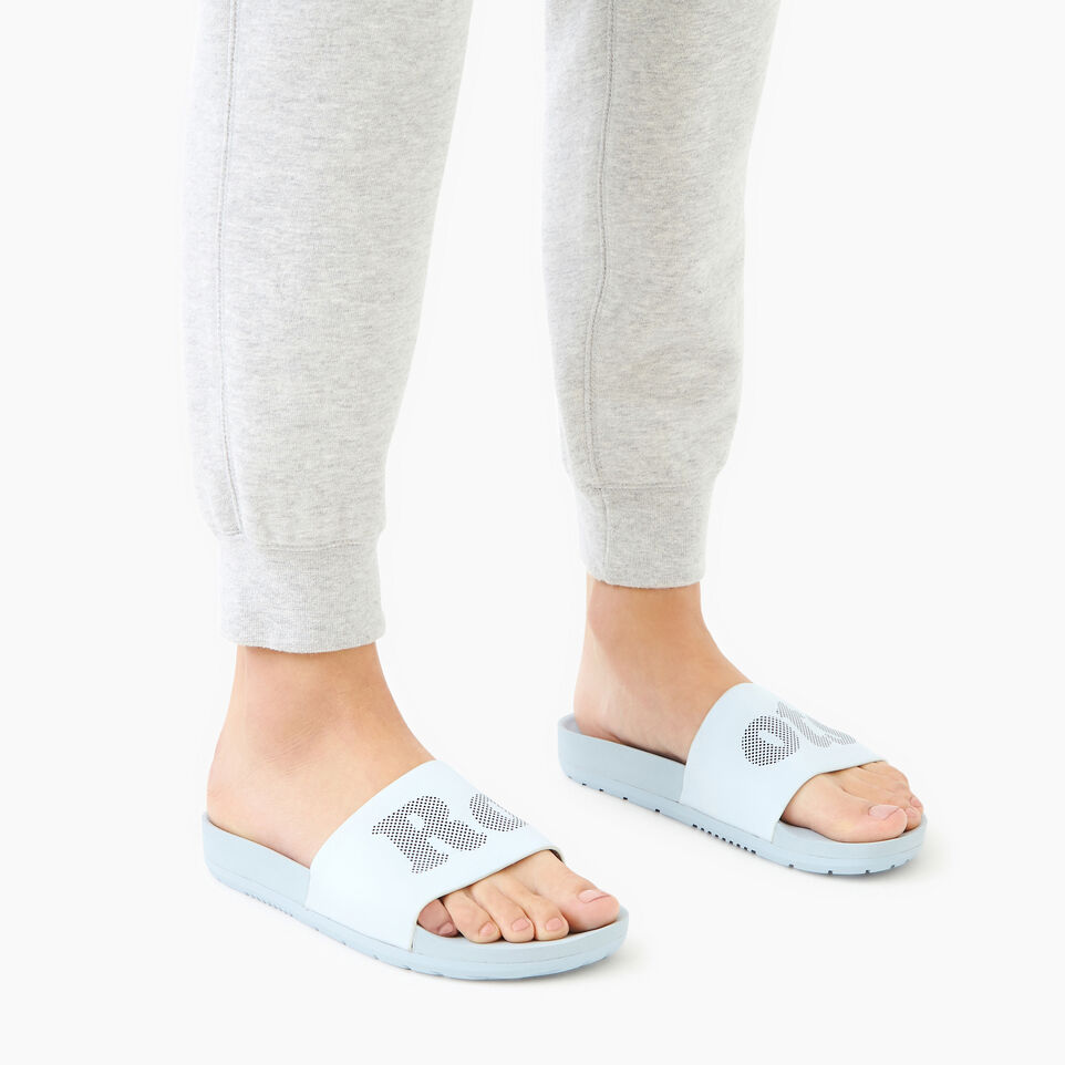 Roots-Footwear Our Favourite New Arrivals-Womens Long Beach Pool Slide-Baby Blue-B