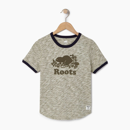 Roots-Clearance Kids-Boys Roots Space Dye T-shirt-Winter Moss Green-A