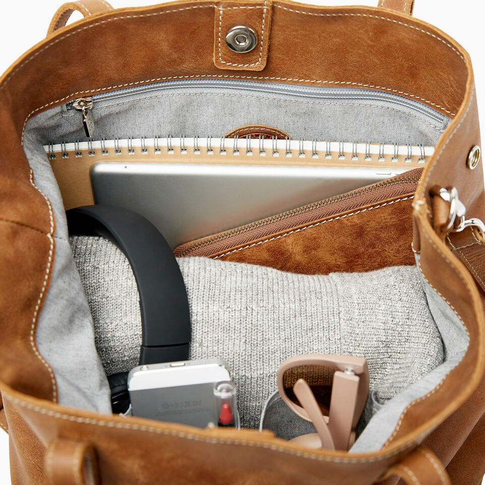 Roots-Leather Categories-Amelia Tote-Natural-E