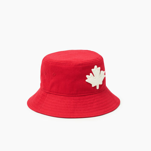 Roots-Kids Toddler Boys-Toddler Canada Leaf Bucket Hat-Red-A