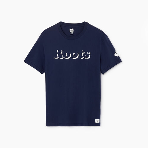 Roots-Men Our Favourite New Arrivals-Mens Roots Shadow T-shirt-Cascade Blue-A