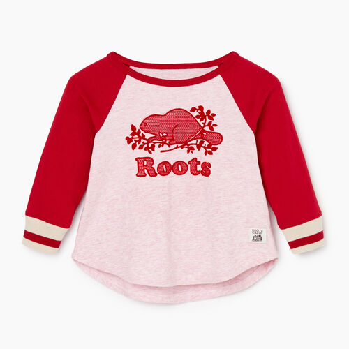 Roots-Sale Kids-Baby Cabin Baseball T-shirt-Cabin Red-A