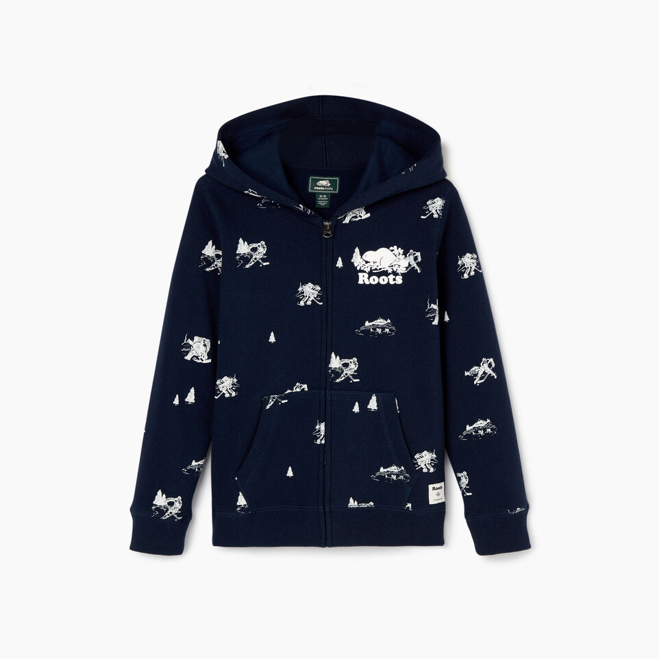Roots-Sale Kids-Boys Hockey Aop Full Zip Hoody-Navy Blazer-B