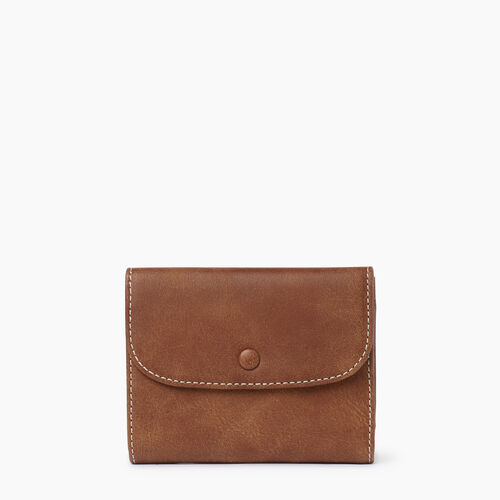 Roots-Leather  Handcrafted By Us Collections-Riverdale Wallet-Natural-A