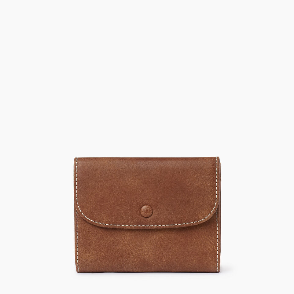 Roots-Leather Our Favourite New Arrivals-Riverdale Wallet-Natural-A