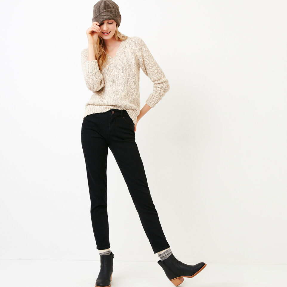 Roots-Women Our Favourite New Arrivals-Laurel V Neck Sweater-Oatmeal Mix-B