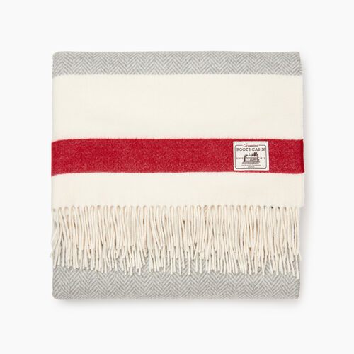 Roots-Men Our Favourite New Arrivals-Cabin Blanket-Grey Oat Mix-A