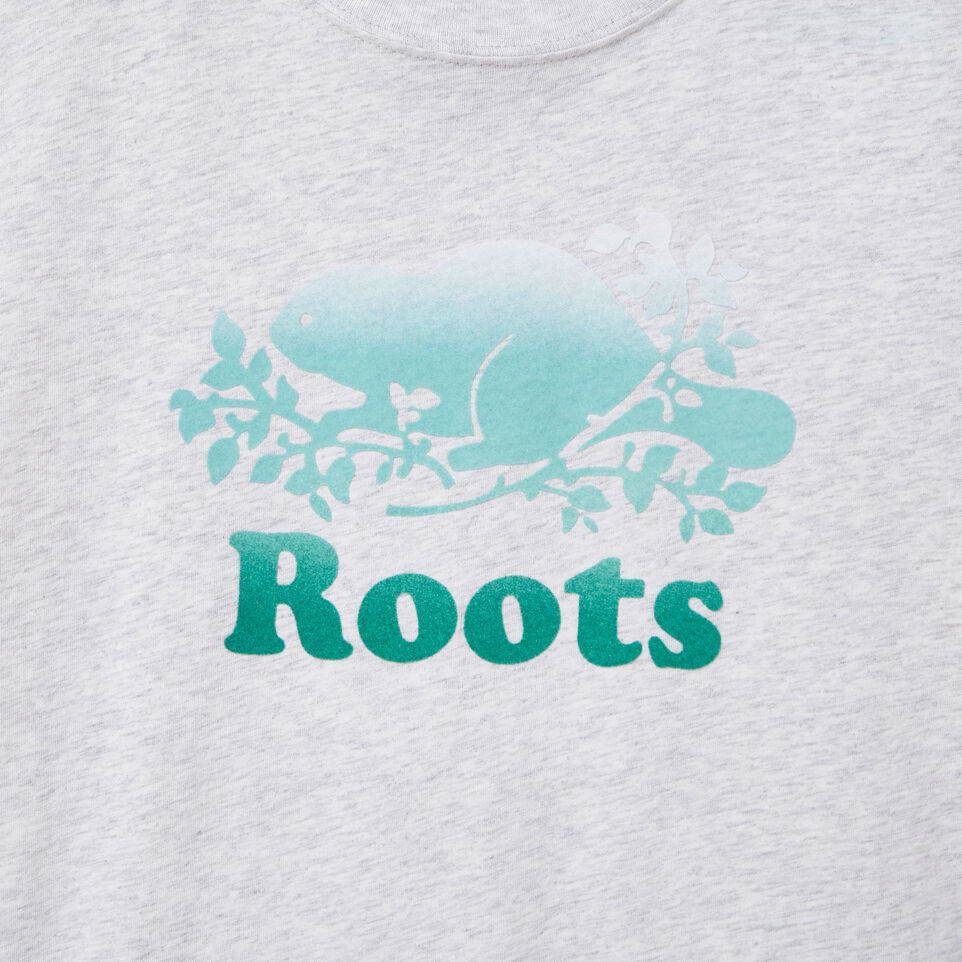 Roots-New For May Kids-Boys Gradient Cooper T-shirt-White Mix-D