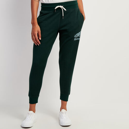 Roots-Women Bottoms-Northlands Cozy Slim Sweatpant-Varsity Green Pepper-A