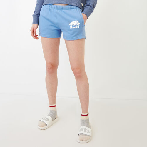 Roots-Women Bottoms-Original Sweatshort-Blue Bonnet-A