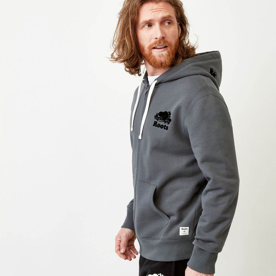 Roots-Men Our Favourite New Arrivals-Original Full Zip Hoody-Iron Gate-C