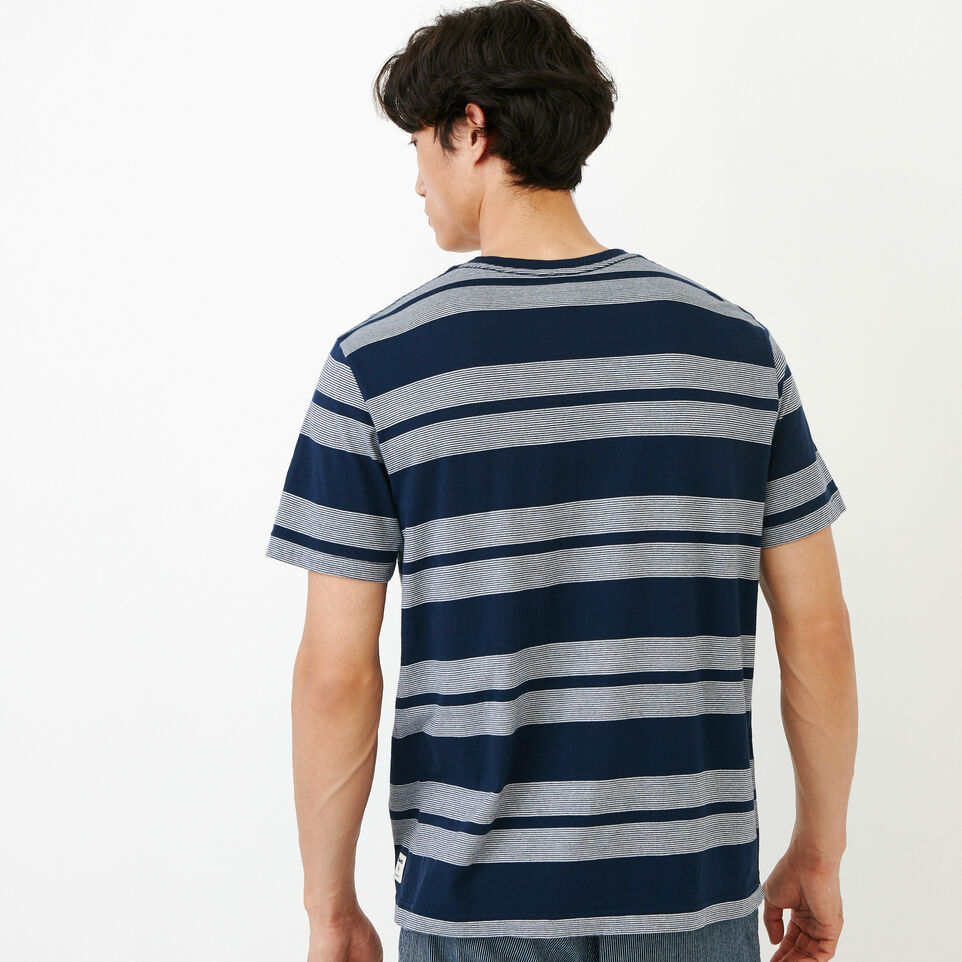 Roots-Men Categories-Mercer Striped T-shirt-Navy Blazer-D