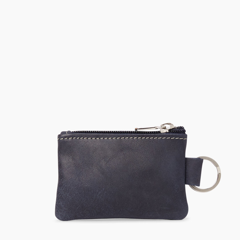 Roots-Top Zip Key Pouch Tribe